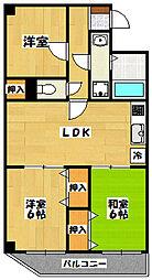 アメニティー宮崎[1階]の間取り