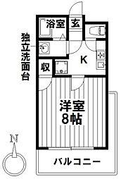 愛知県名古屋市瑞穂区前田町3丁目の賃貸マンションの間取り