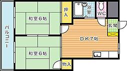 プレアール鷹の巣II[5階]の間取り