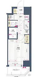 Osaka Metro谷町線 天神橋筋六丁目駅 徒歩8分の賃貸マンション 9階1Kの間取り