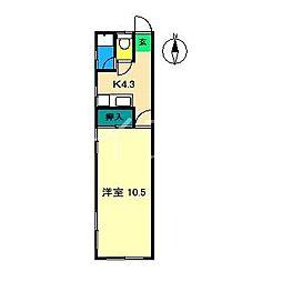 コーポ美和[1階]の間取り