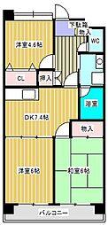 オオクマレジデンス21[3階]の間取り