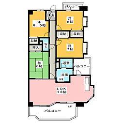 ライオンズマンション八事山[8階]の間取り