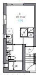 JR山手線 駒込駅 徒歩8分の賃貸マンション 4階ワンルームの間取り