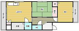 大阪府高槻市名神町の賃貸マンションの間取り