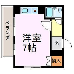 千代田ヒルズ[5A号室]の間取り