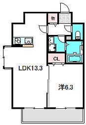 Osaka Metro谷町線 大日駅 徒歩5分の賃貸マンション 8階1LDKの間取り