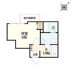 東京メトロ副都心線 北参道駅 徒歩4分の賃貸マンション 5階1Kの間取り