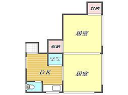 東京都板橋区中板橋の賃貸アパートの間取り
