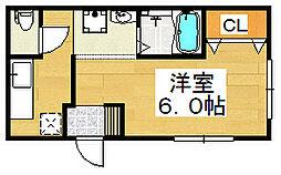エターナル津久野[1階]の間取り