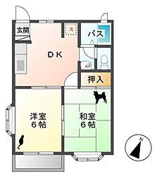 ローレルコート3号棟[2階]の間取り