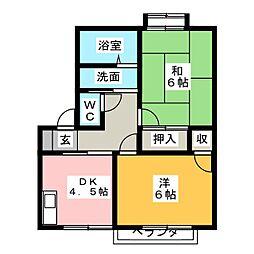 レピュート勝川II[1階]の間取り