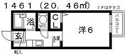 大阪府藤井寺市小山4丁目の賃貸アパートの間取り