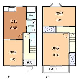 神奈川県座間市緑ケ丘4丁目の賃貸アパートの間取り