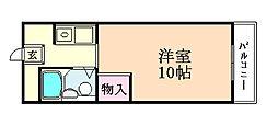 タクティ加美[202号室]の間取り