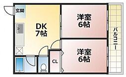 ロイヤル深江[6階]の間取り