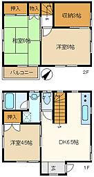 [一戸建] 埼玉県春日部市大枝 の賃貸【/】の間取り