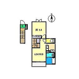 サンライズハウス[2階]の間取り