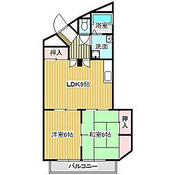 愛知県名古屋市中川区上脇町2の賃貸マンションの間取り