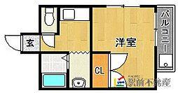 福岡県福岡市城南区南片江1丁目の賃貸マンションの間取り