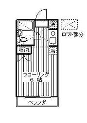 神奈川県相模原市南区東林間8丁目の賃貸アパートの間取り