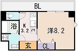 ルミエール八尾駅前[4階]の間取り