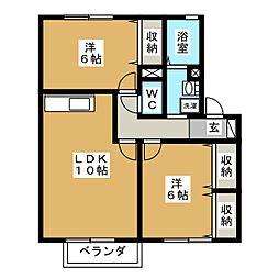 COURT FIGUE[2階]の間取り