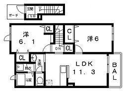 メゾン NTT[203号室号室]の間取り