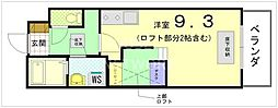Le Kitayama[203号室号室]の間取り