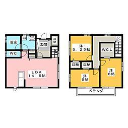 [一戸建] 三重県津市久居西鷹跡町 の賃貸【/】の間取り