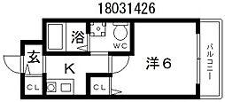 ウッディ天下茶屋[1階]の間取り