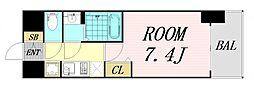 ファステート難波グランプリ 10階1Kの間取り