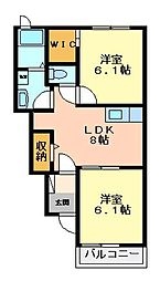 エトワールI[1階]の間取り