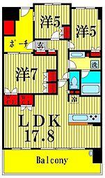 トーキョーガーデンスイート[14階]の間取り