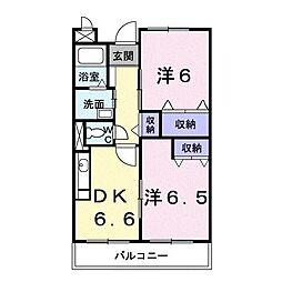 アヴェニュー K[0103号室]の間取り