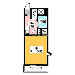 ロイヤルNYII[4階]の間取り