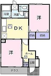 ビズ・コートA[1階]の間取り