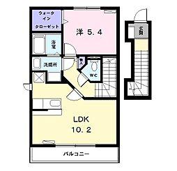 愛知県名古屋市中川区八家町1丁目の賃貸アパートの間取り