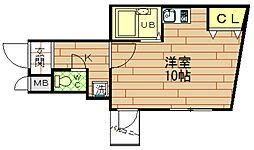 グリシナ野田[1階]の間取り