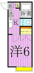 クレアール西新井[2階]の間取り