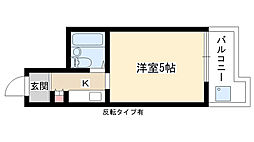 愛知県名古屋市名東区小池町の賃貸マンションの間取り