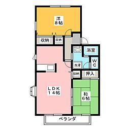 サザン・クロスK B棟[2階]の間取り