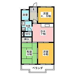 レジデンス鈴木[2階]の間取り