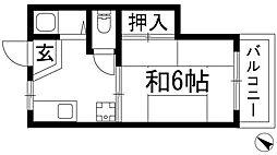 兵庫県川西市小戸1丁目の賃貸アパートの間取り