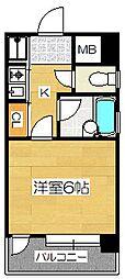ピュアドームベイス博多[9階]の間取り
