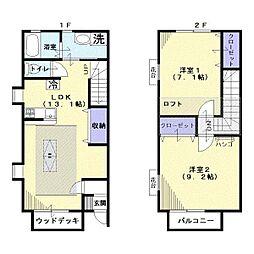 ヴァンソレイユ[2階]の間取り