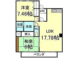 K-TWINS[1階]の間取り