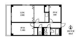 アパートメントカヤ田園調布[2階]の間取り