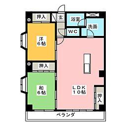 マンション葵[1階]の間取り
