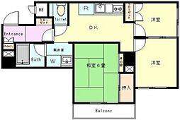 ペガサスステーションプラザ蒲田 bt[4階]の間取り